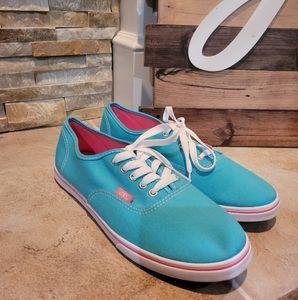 Vans Women's Turquoise Low Top Canvas Sneakers Siz